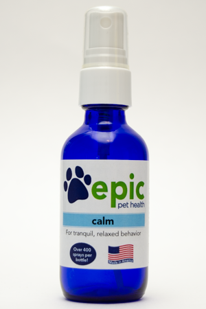 Calm - for relaxed behavior before travel, vet visits, nail trims, thunderstorms and stressful situations