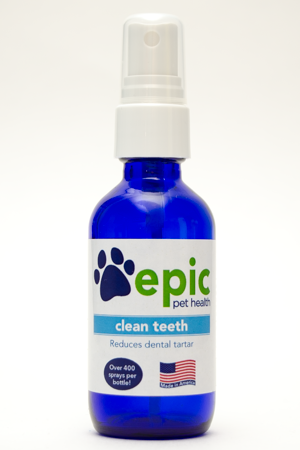 Clean Teeth -all natural pet supplement that reduces bad breath and dental tartar
