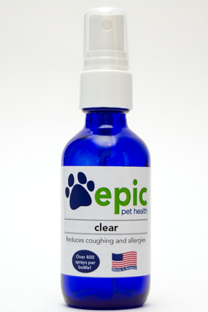 Clear spray for dog and cat allergies