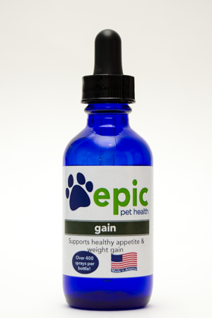 Gain - stimulates healthy appetite in sick or old pets
