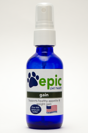 Gain - stimulates healthy appetite in sick pets
