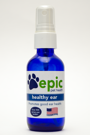 Healthy Ear All Natural Pet Supplement Helps Itchy Ears. Easy to use mist over ears and put in food and water. Eliminating grains in food and treats helps many pets with chronic ear conditions.