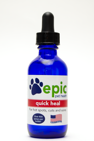 Quick Heal - promotes fast healing in cuts, sores and wounds. Good for hot spots.