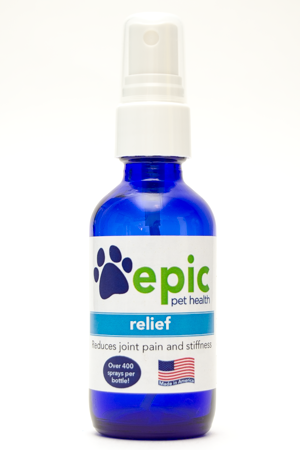 Relief Natural Pet Remedy helps relax muscle and joint pain in dogs, cats, horses and all animals. It also reduces back and neck pain due to arthritis or injuries. This supplement was created by a pet parent to help her dog manage his arthritis pain. The sprays are easy to.use by spraying on body, food & water.