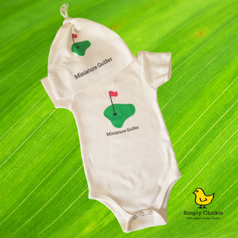 Organic cotton baby gift set - golf