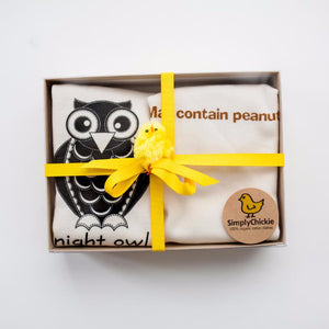 Gift set/Owl and Peanut rompers