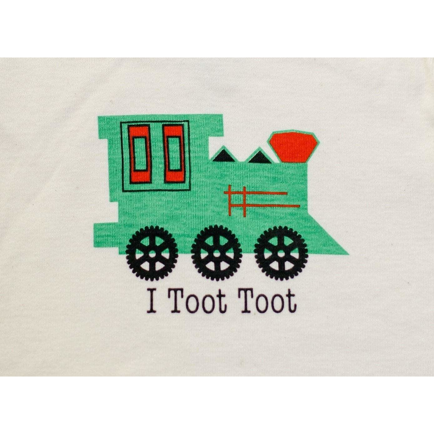 Organic cotton kids t-shirt - Train - Simply Chickie