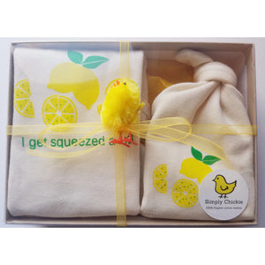 Gift set Lemon romper and hat