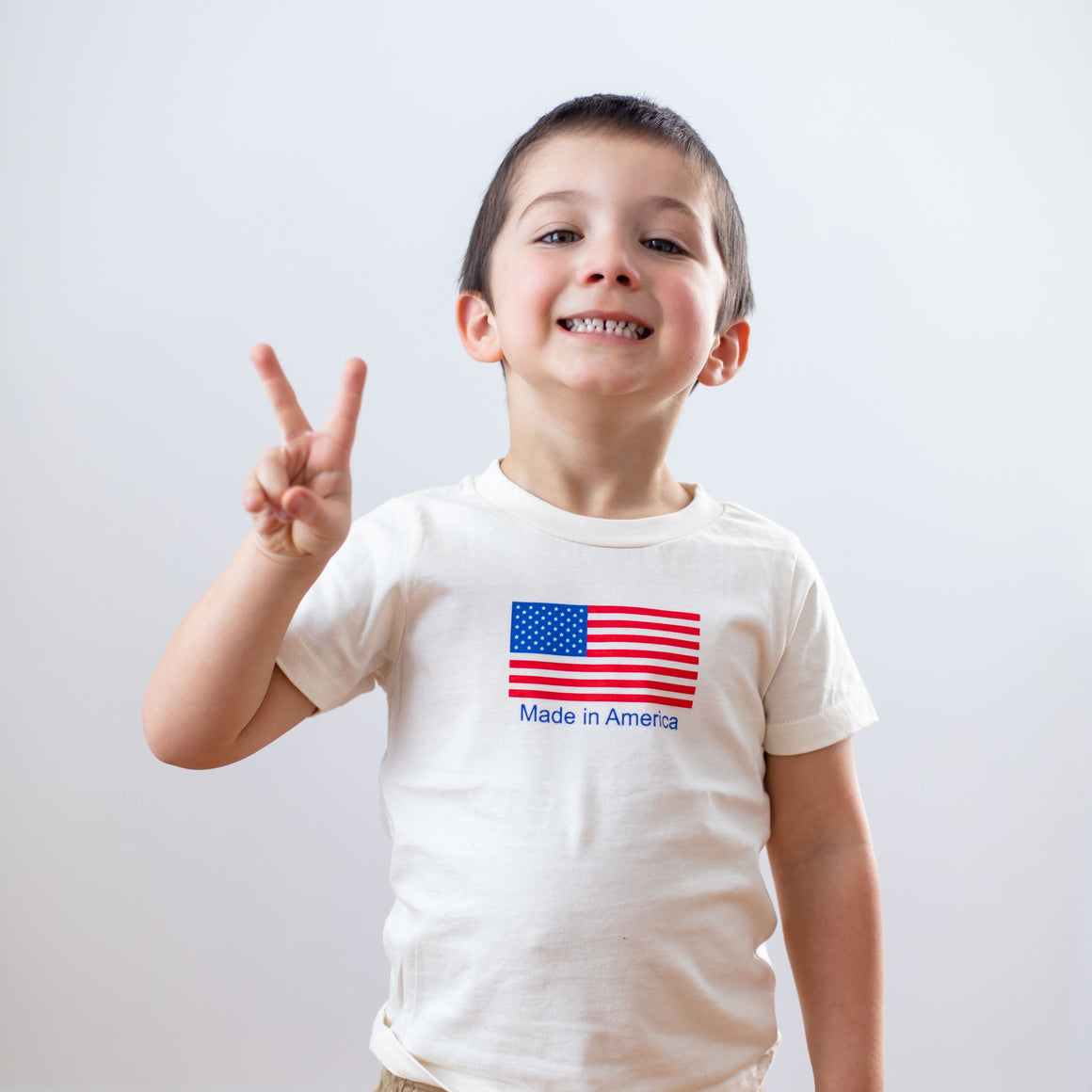 Organic cotton kids t-shirt - Made in America - Simply Chickie