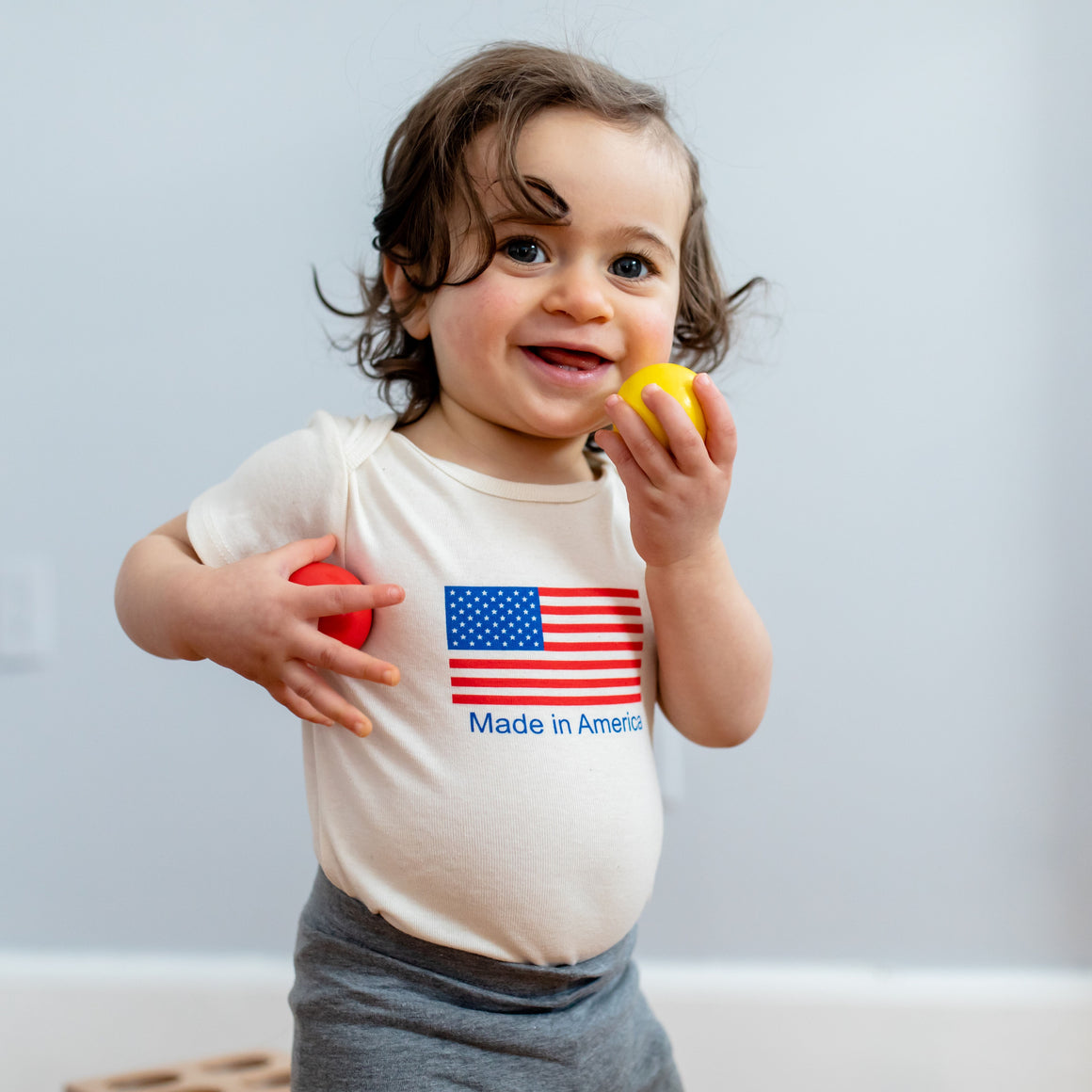 Organic Cotton Baby Onesie - Made in America