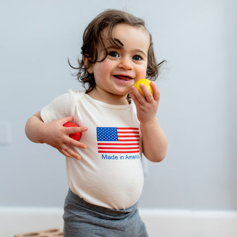 "Baby Romper ""Made in America"""