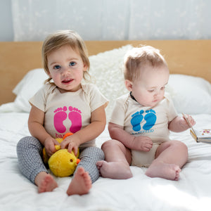 Twins gift Set/ bambina and bambino baby rompers