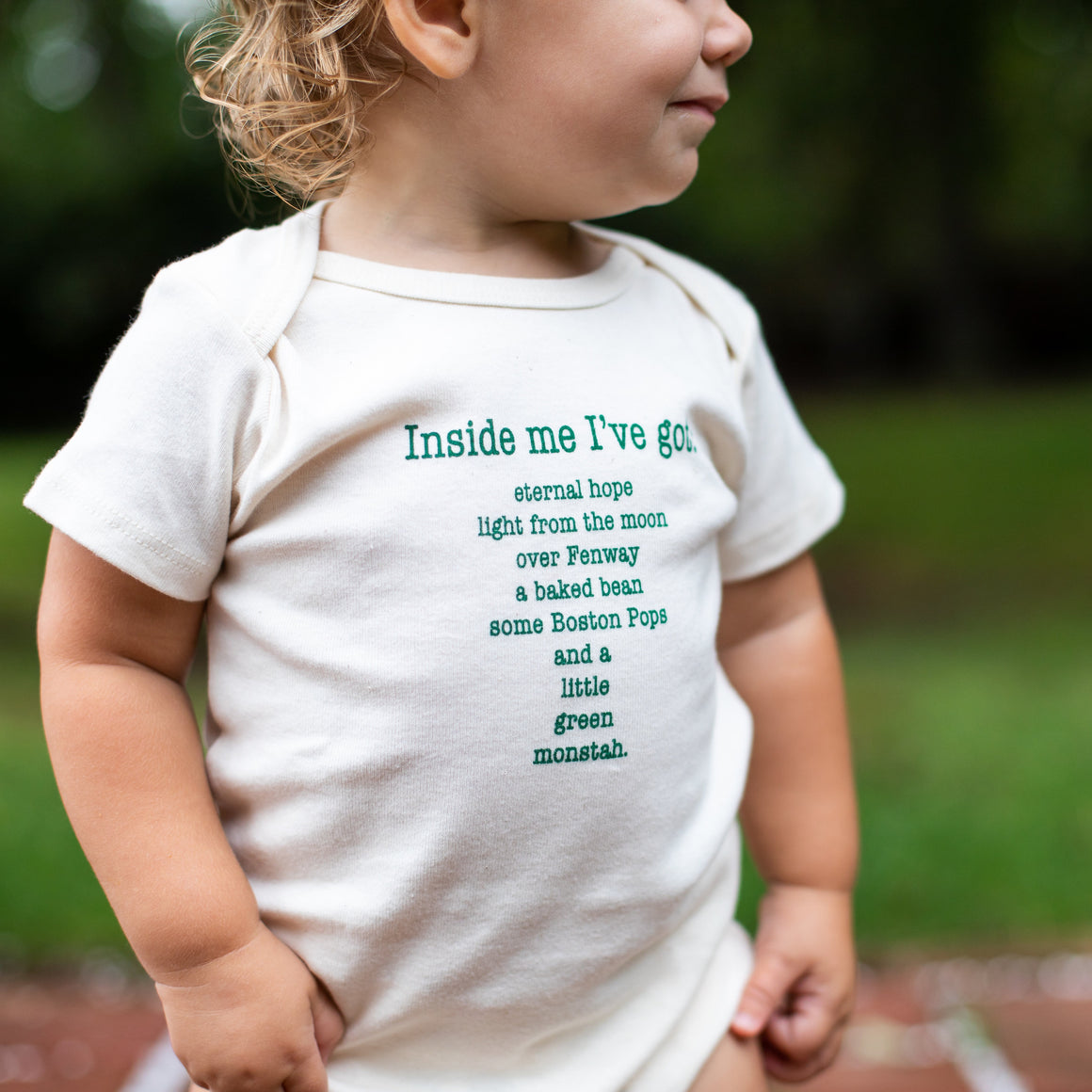 Organic cotton baby onesie - Boston - Simply Chickie