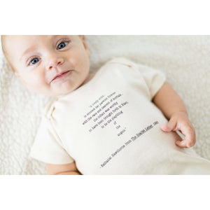 Organic cotton baby onesie - Nathaniel Hawthorne - Simply Chickie