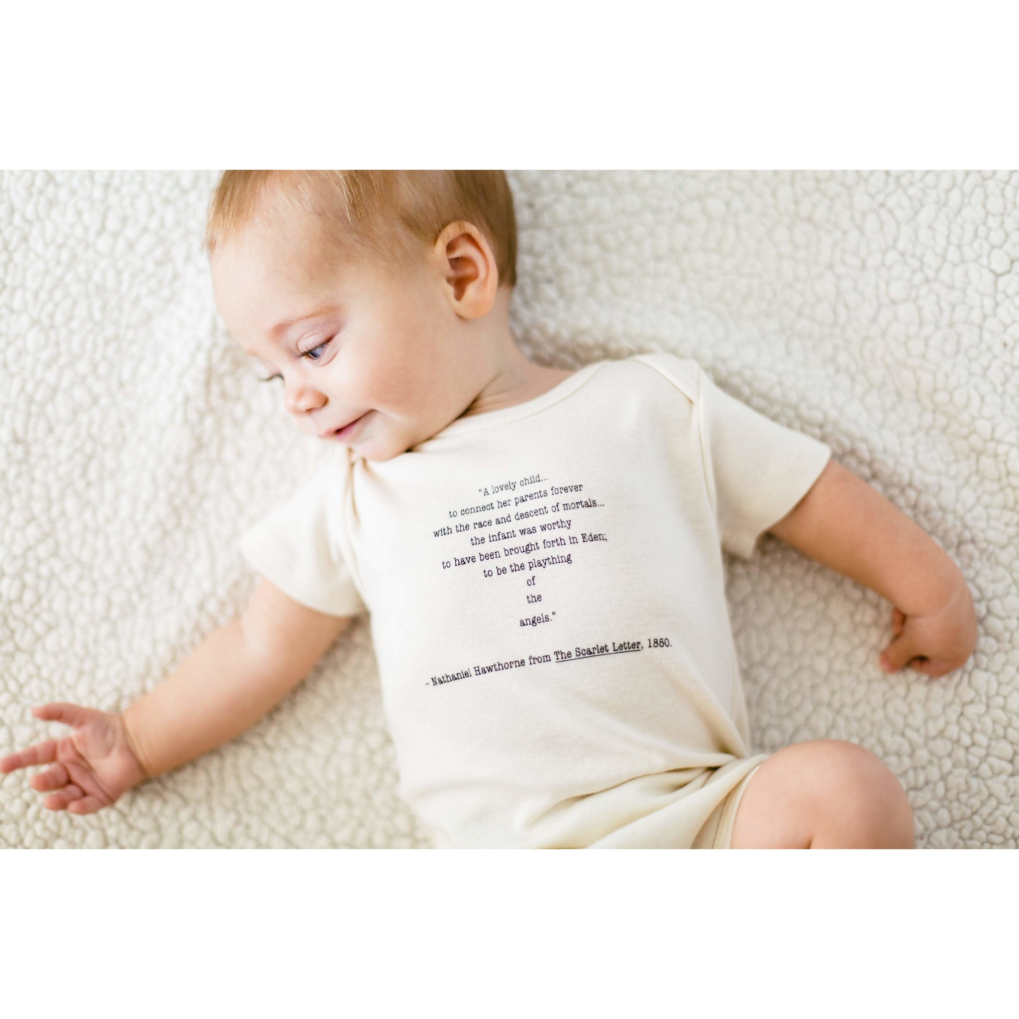 018a7a0538a7 Hawthorne quote baby rompers - Simply Chickie