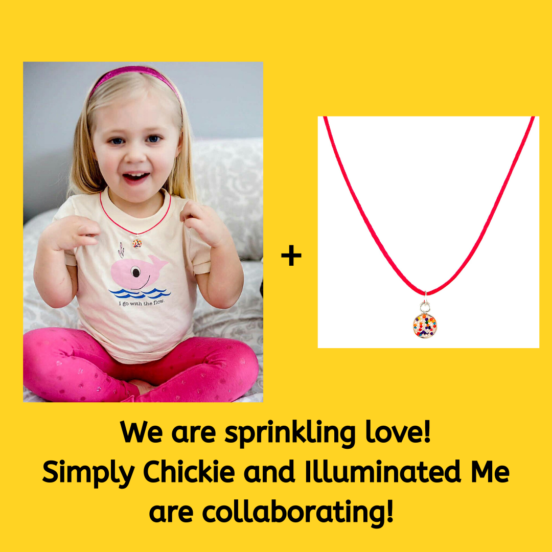 A NEW Gift Set Collaboration with Illuminated Me--Candy sprinkles necklace + T-shirt - Simply Chickie