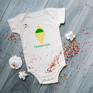 Organic cotton baby onesie - Ice cream - Simply Chickie