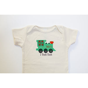 I toot toot baby rompers