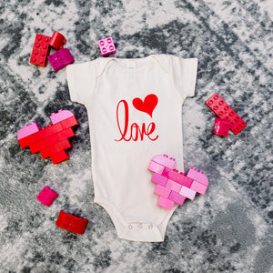 Organic cotton baby onesie - Love - Pre-order for February delivery. - Simply Chickie