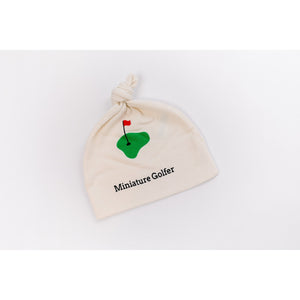 Organic cotton baby hat - Golf