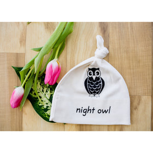 Organic cotton baby hat - Owl - Simply Chickie