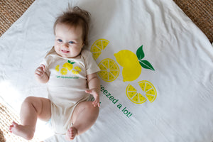 Organic Cotton Baby Blanket - I Get Squeezed A Lot