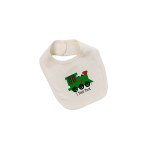 Organic cotton baby bib - Train - Simply Chickie