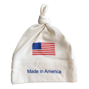"""Made in America"" Bundle Baby Clothes gift set: organic baby romper + baby hat + baby blanket - Simply Chickie"