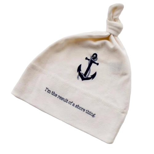 Organic cotton baby hat - Nautical - Simply Chickie