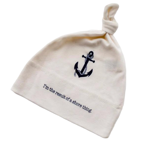 Organic cotton baby hat - Nautical - Anchor - Simply Chickie