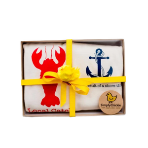 Organic cotton baby gift set - Nautical LONG SLEEVE AVAILABLE - Simply Chickie