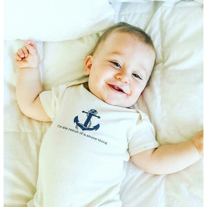 Organic cotton baby onesie - Nautical - Simply Chickie