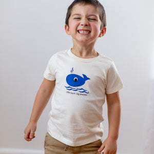 Organic cotton kids t-shirt - Whale - Simply Chickie