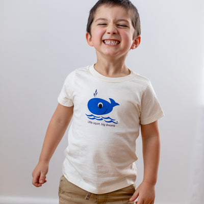 Organic cotton kids t-shirt - Whale