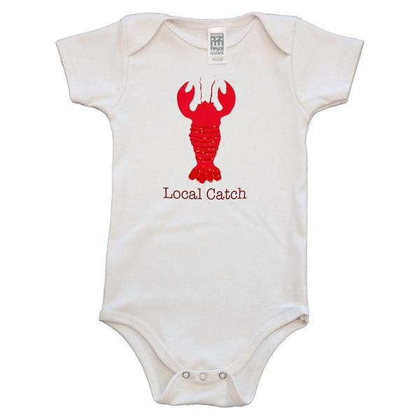 Organic cotton baby onesie - Lobster - Simply Chickie