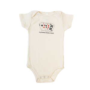 Organic cotton baby onesie - Poker - Simply Chickie