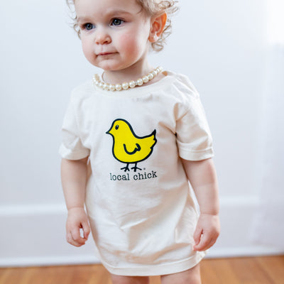 Organic cotton kids t-shirt - Yellow Chick