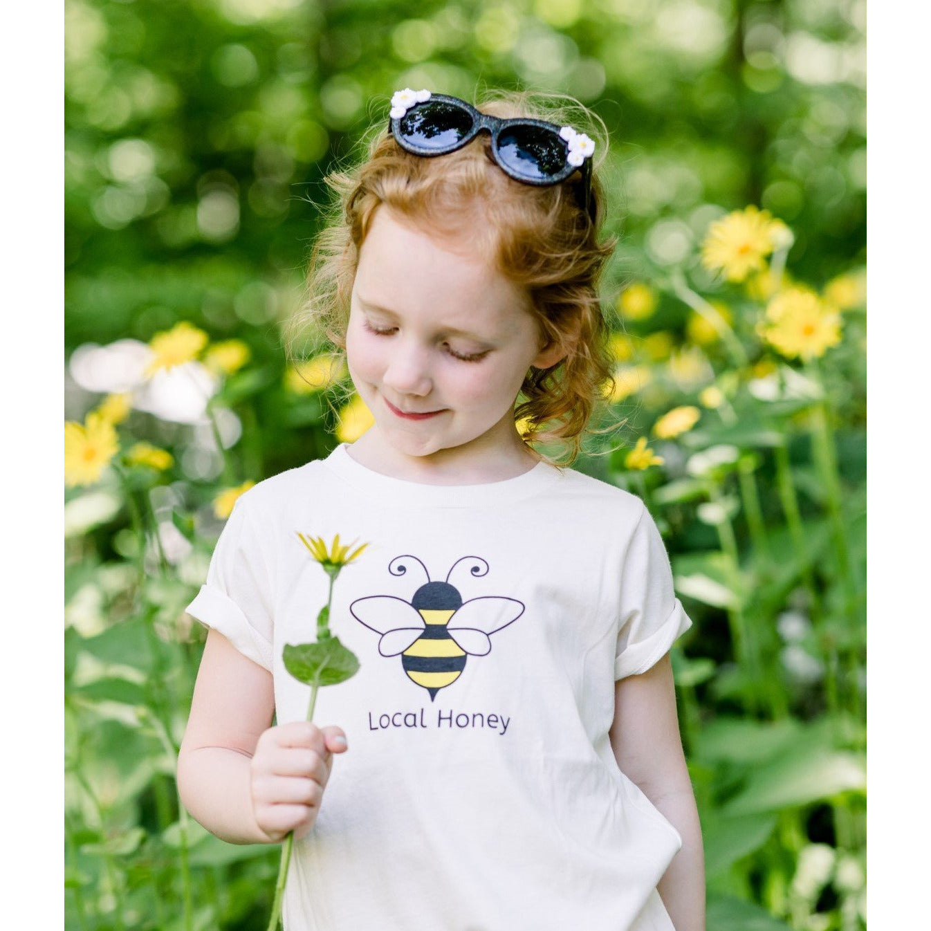Organic cotton kids t-shirt - HoneyBee - Simply Chickie