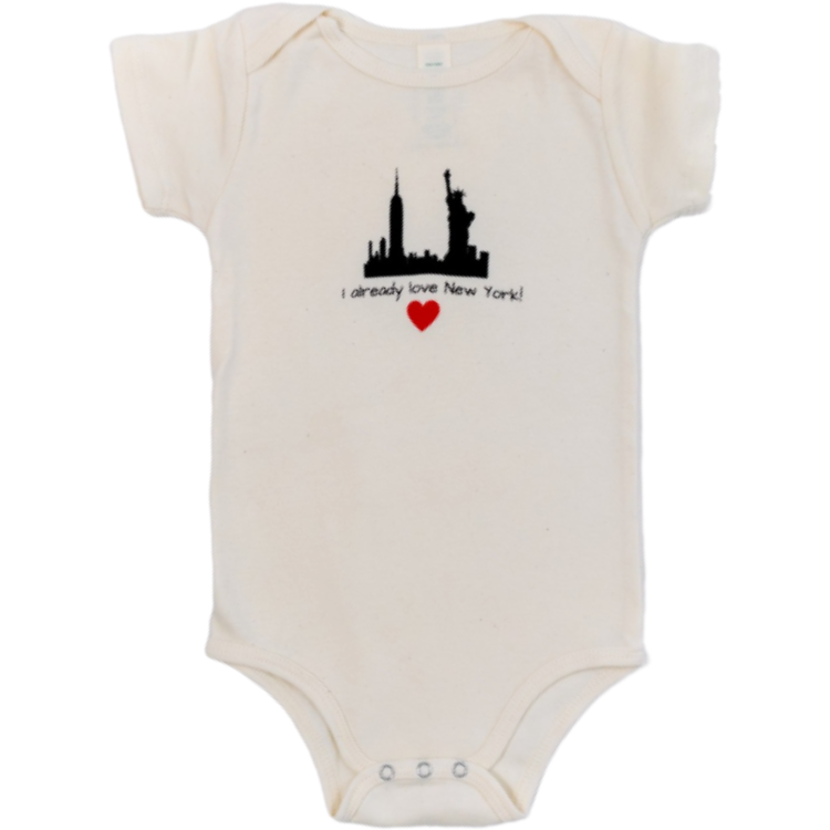 Organic cotton baby onesie - New York PLEASE NOTE. This design is also available in kid t-shirts: 2T, 4T, 6T - Simply Chickie