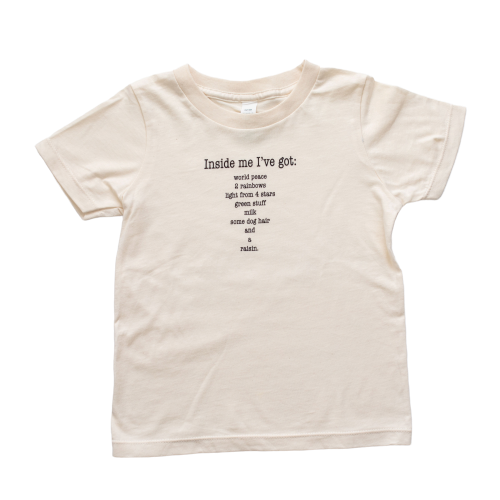 Organic cotton kids t-shirt - Inside me - Simply Chickie
