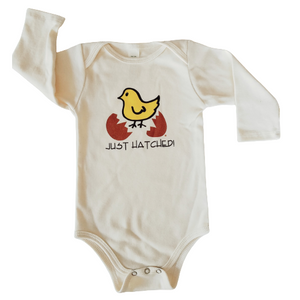 Organic cotton baby gift set - Hatched LONG SLEEVE - Simply Chickie