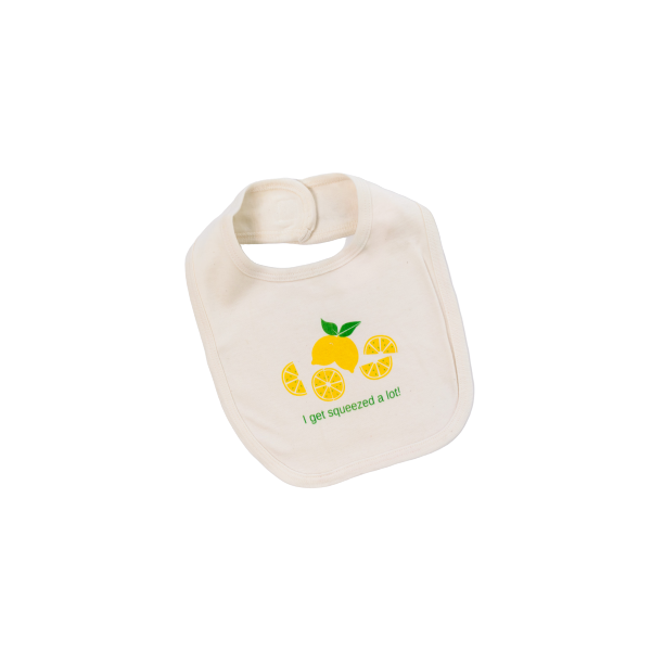 Organic cotton baby bib - Lemon - Simply Chickie
