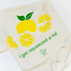 Organic cotton baby romper + baby hat + baby blanket - Lemon - Simply Chickie