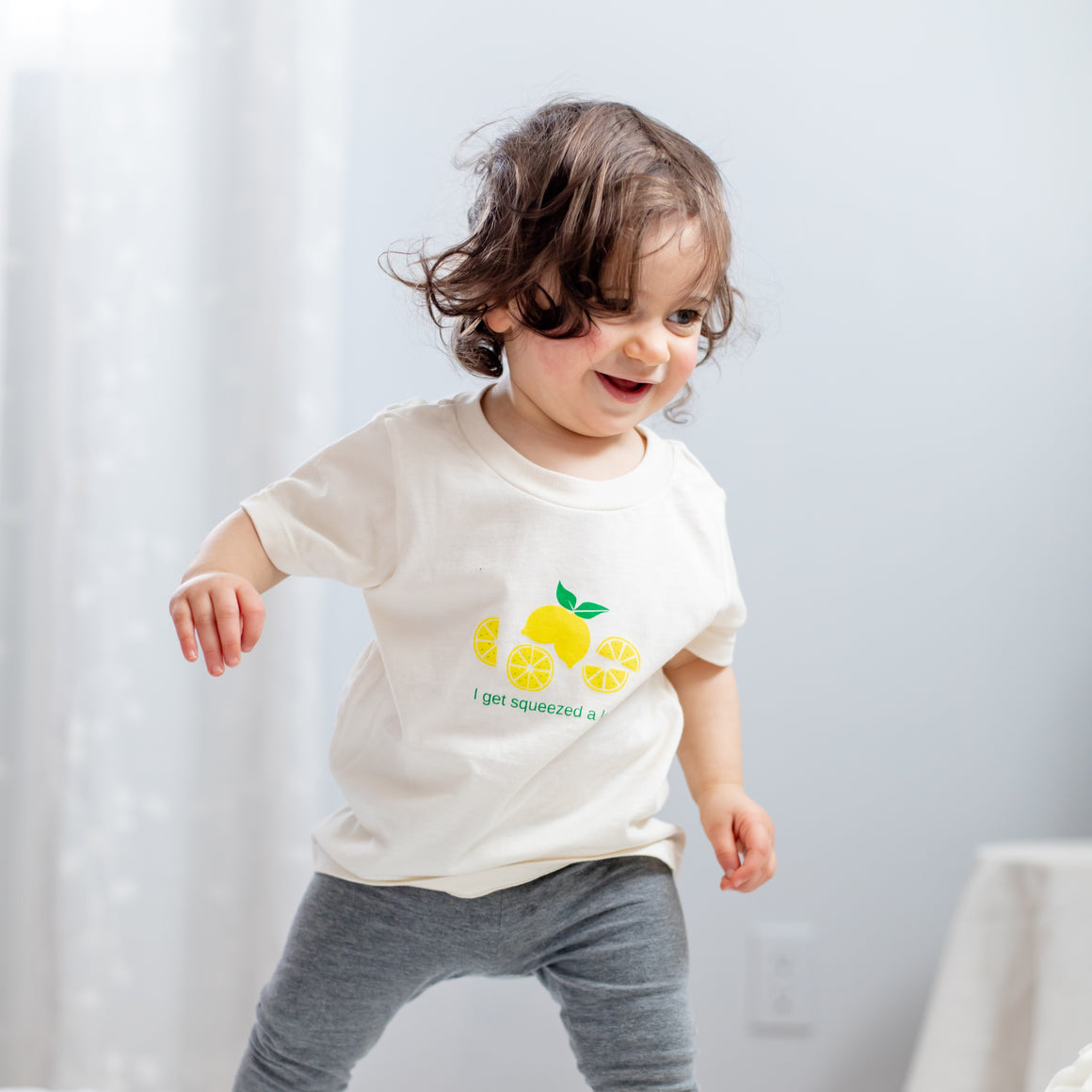 Organic cotton kids t-shirt - Lemon - Simply Chickie