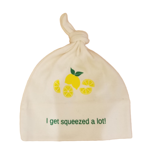 Organic cotton baby hat - Lemon - Simply Chickie
