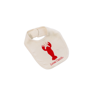 Organic cotton baby bib - Lobster