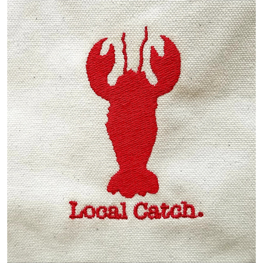 Local Catch Tote Bag - Red and White