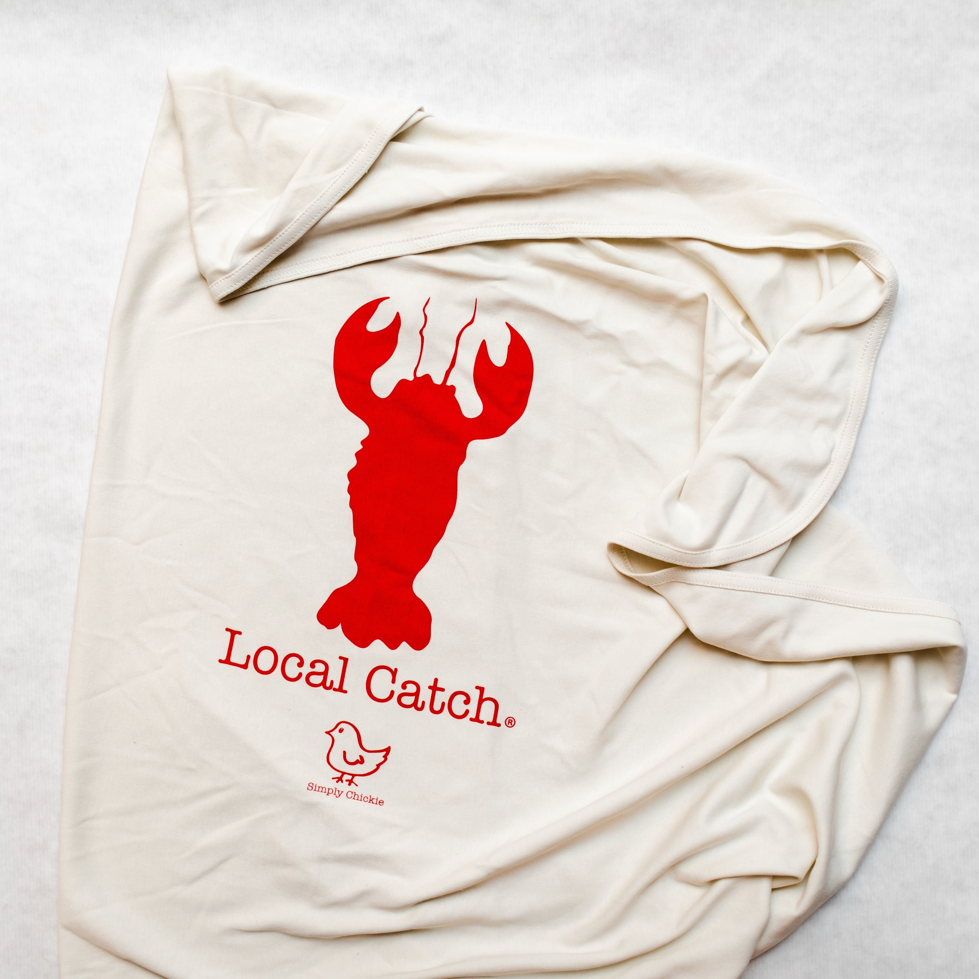Organic Cotton Baby Blanket - Lobster - Simply Chickie