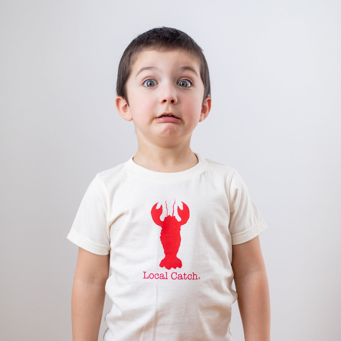 Organic cotton kids t-shirt - Lobster - Simply Chickie