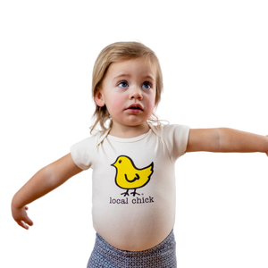 Organic cotton baby onesie - Chick - Simply Chickie